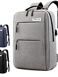 cheap -17 Inch Laptop Commuter Backpacks / Briefcase Handbags Nylon Fiber / Polyester Solid Color for Men for Women for Business Office Waterpoof Shock Proof