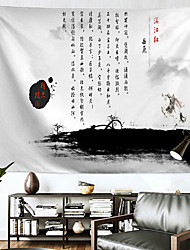 cheap -Chinese Style Wall Tapestry Art Decor Blanket Curtain Hanging Home Bedroom Living Room Decoration Polyester Poetry