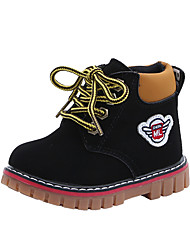 cheap -Boys' Boots Ankle Boots PU Martin Boots Little Kids(4-7ys) Yellow Black Brown Fall Winter / Booties / Ankle Boots