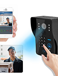 cheap -1080P HD WiFi Doorbell Camera Smart Wireless Doorbell Video Intercom Security Camera Outdoor IR Night Vision 2MP with RFID and Password Face recognition unlock