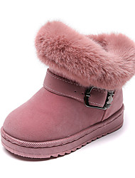 cheap -Boys' Girls' Boots Flats Snow Boots Faux Fur Big Kids(7years +) Little Kids(4-7ys) Daily Walking Shoes Buckle Pink Black Fall Winter / Mid-Calf Boots