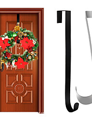 cheap -Wreath Hanger Premium Over The Door 15 Inch Metal Wreath Hanger Wreath Holder Wreath Hook for Christmas Decoration Large