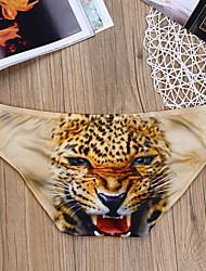 cheap -Men's Print Sexy Leopard Animal Sexy Panties Briefs Underwear Stretchy Mid Waist Light Blue M