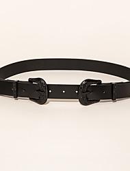 cheap -Women's Waist Belt Daily Festival Black Belt Pure Color