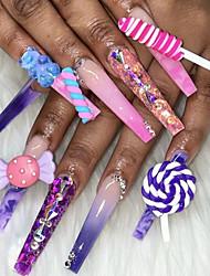 cheap -20Pcs/Lot Kawaii Resin Nail Art Charms Happy Flower/Jelly Gummy Bear/ Mix Sweet Candy 3D Nail Decoration Luxury Nail Deco