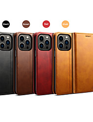 cheap -Phone Case For Apple Back Cover iPhone 13 12 Pro Max 11 Pro Max Mini iPhone 11 iPhone 11 Pro iPhone 11 Pro Max iPhone XS Max Wallet Card Holder Shockproof Solid Colored PU Leather