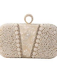 cheap -Women's Bags Polyester Evening Bag Crystals Chain Party / Evening Daily Retro Evening Bag Chain Bag Champagne