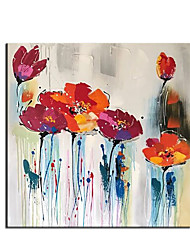 cheap -Oil Painting Handmade Hand Painted Wall Art Modern Abstract Red Flower Bush Home Decoration Decor Rolled Canvas No Frame Unstretched