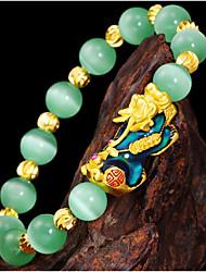 cheap -Men's Women's Resin Bead Bracelet Geometrical Totem Series Vintage Resin Bracelet Jewelry Green For Street Gift Daily Festival