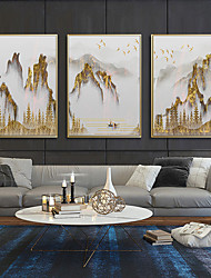 cheap -Wall Art Canvas Prints Painting Artwork Picture Mount Gold Landscape Home Decoration Decor Rolled Canvas No Frame Unframed Unstretched