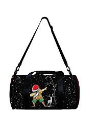 cheap -Unisex Bags Polyester Duffle Bag Zipper Daily Outdoor 3D Print Black