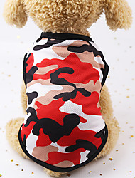 cheap -Camouflage Cartoon Vest Multi-color Optional Color Dog Vest Minimalist Classic Indoor Dog Clothes Puppy Clothes Dog Outfits Waterproof Costume for Girl and Boy Dog Cotton Blend