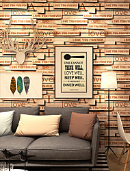 cheap -Wallpaper Wall Covering Sticker Film Loft Alphabet Vinyl PVC Home Decor 53*1000cm