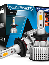 cheap -NOVSIGHT 9006 Led Headlight Bulb LED H1 H3 H4 H7 H11 9005 9006 3000K Yellow 10000LM 72W Car Headlamp Fog Light 2pcs