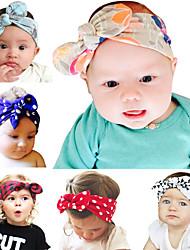 cheap -6 pcs/set New DIY Baby Bunny Ears Headband Cotton Baby Headband