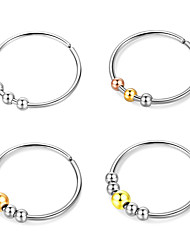 cheap -Women Ring Frosted Ball Silver Stainless Steel Galaxy Simple Punk Casual / Sporty 4pcs Adjustable / Women's
