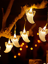 cheap -Halloween LED String Lights Ghost Shaped Battery Light 3M-20LEDs 1.5M-10LEDs Halloween Party Garden Outdoor Decorative Lights