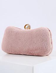 cheap -Women's Bags Polyester Evening Bag Crystals Chain Party / Evening Daily Evening Bag Chain Bag Wine Almond Blushing Pink Gray
