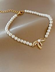 cheap -Women's Bead Bracelet Classic Bowknot Korean Alloy Bracelet Jewelry Gold For Wedding