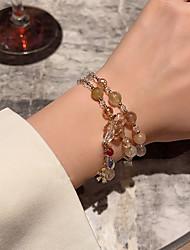 cheap -Women's Bead Bracelet Layered Lucky Korean Alloy Bracelet Jewelry Gold For Wedding