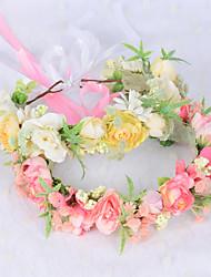 cheap -Fairy Wreath Flower Gypsophila Headdress Bridesmaid Travel Photo Show Hair Accessories Headband