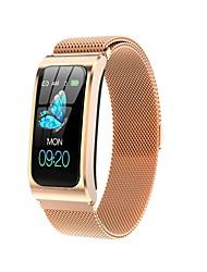 cheap -AK12 Women's Smartwatch Fitness Running Watch Smart Wristbands Fitness Band Bluetooth Heart Rate Monitor Blood Pressure Measurement Blood Oxygen Monitor ECG+PPG Stopwatch Pedometer Activity Tracker