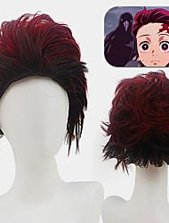 cheap -Anime Wig New Product Demon Slayer Blade Tanjirou Koamon Cosplay Anime Wig