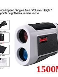 cheap -GVDA GD1500A Telescope Laser Rangefinder 6x Laser Distance Meter Tape Measure 1500m Range Finder for Golf Hunting Sport
