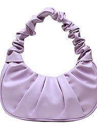 cheap -Women's Croissant Bag PU Leather Shoulder Bag Causal Daily Holiday Blue Purple White Black