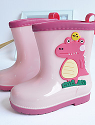 cheap -Boys' Girls' Rain Boots Sports & Outdoors Rain Boots PVC Waterproof Water Resistant Non-slipping Little Kids(4-7ys) Daily Indoor Outdoor Walking Shoes Animal Print Light Pink Green Fall Winter
