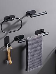 cheap -4pcs /1set Perforation-free Bathroom Pendant Set Towel Rod Ring Single Hook Paper Towel Holder
