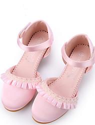 cheap -Girls' Heels Flower Girl Shoes Satin Color Changing Big Kids(7years +) Little Kids(4-7ys) Flower Light Pink Ivory Fall Winter