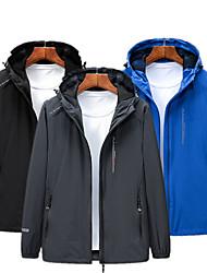 cheap -Men's Outdoor Jacket Street Daily Fall Spring Regular Coat Zipper Hoodie Regular Fit Waterproof Windproof Breathable Casual Jacket Long Sleeve Solid Color Pocket Dark Grey Blue Black