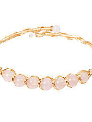 cheap -Women's Crystal Bead Bracelet Crystal Bracelet Classic Mini Simple Luxury Classic Copper Bracelet Jewelry Red / Pink For Gift Daily Club / 14K Gold