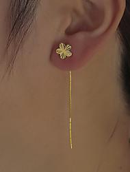 cheap -Women's Stud Earrings Chandelier Petal Statement Vintage Modern Cute Sweet Earrings Jewelry Gold For Party Gift Daily Prom Club 1 Pair