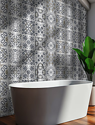 cheap -Gray Blue Brushed Silver Foil Moroccan Tile Sticker Self-adhesive Kitchen Wall Sticker Metal Texture Tile Wall Sticker