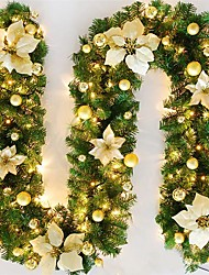 cheap -2.7m String Lights 50 LEDs 1pc Warm White Party Decorative Christmas Wedding Decoration AA Batteries Powered