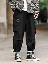 cheap -Men's Sports & Outdoors Streetwear Outdoor Sports Jogger Sweatpants Casual Daily Pants Solid Color Full Length Classic Pocket ArmyGreen Khaki Black