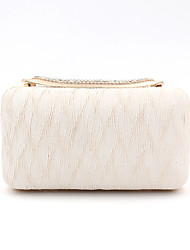 cheap -Women's Bags Polyester Alloy Evening Bag Crystals Plain Party / Evening Daily Evening Bag Champagne