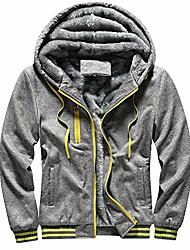 cheap -clearance men's winter heavyweight fleece sherpa lined zipper hoodie sweatshirt jacket pullover coats (dark gray,large)