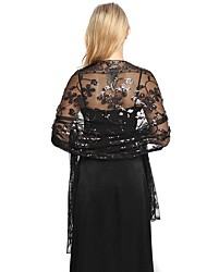 cheap -Sleeveless Elegant Lace Party / Evening / Birthday Women's Wrap With Lace / Paillette