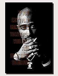 cheap -1 Panel Wall Art Canvas Prints Painting Artwork Picture TUPAC SHAKUR Painting Home Decoration Decor Rolled Canvas No Frame Unframed Unstretched