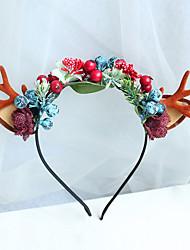 cheap -Christmas Simulation Small Antlers Cat Ears Headgear Elk Headband Halloween Adult Children Headband
