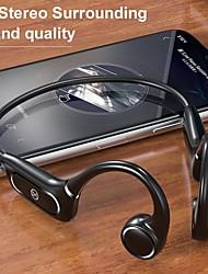 cheap -H12 Bluetooth 5.0 Wireless Headphones IP55 Waterproof Bone Conduction Earphone Outdoor Sport Headset With Mic Handsfree Headsets