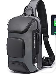 cheap -Men's Bags Oxford Cloth Polyester Sling Shoulder Bag Crossbody Bag Zipper Leopard Print Daily Outdoor Handbags Bum Bag Gray Black