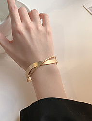 cheap -Women's Bracelet Bangles Double Layered Precious Simple Alloy Bracelet Jewelry Gold For Wedding