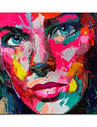 cheap -Oil Painting Handmade Hand Painted Wall Art Square Modern Francoise Nielly Knife Abstract Portrait Face Figure Picture Home Decoration Decor Rolled Canvas No Frame Unstretched