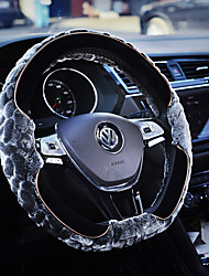 cheap -For Auto Car Steering Wheel Cover Leopard Tan Steering Wheel Cover To Match warm&soft Leopard Car-styling