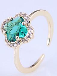 cheap -Ring Cubic Zirconia Purple Pink Green Copper Imitation Diamond Clover Simple Elegant Fashion 1pc / Women's