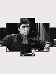 cheap -5 Panels Wall Art Canvas Prints Painting Artwork Picture Tony Montana Scarface Painting Home Decoration Decor Rolled Canvas No Frame Unframed Unstretched
